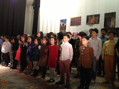 National Anthem by Hadaf School students